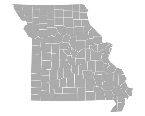 map of missouri - missouri stock illustrations