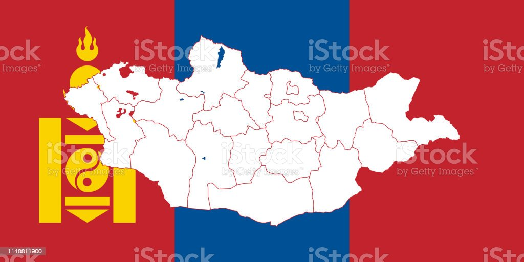 Map Of Mongolia Stock Illustration Download Image Now Istock