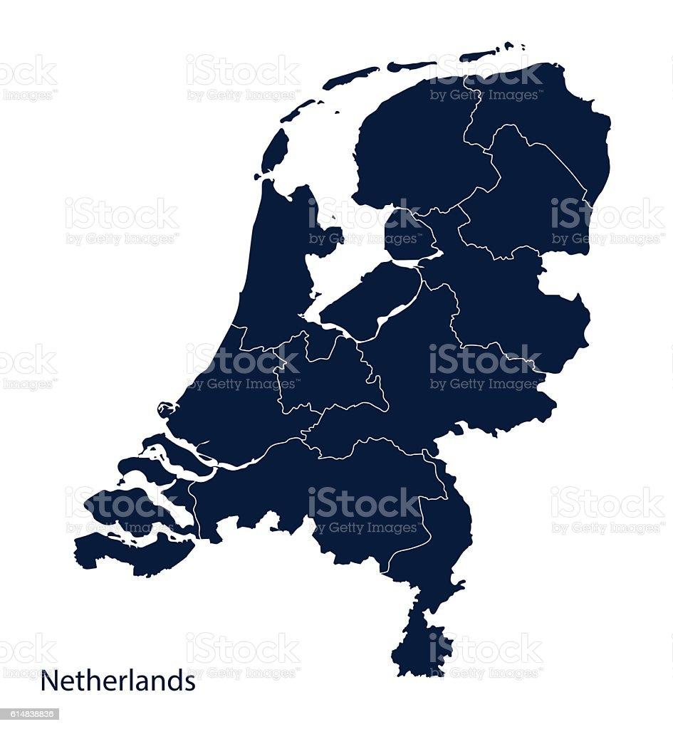 Map of Netherlands, Holland. vector art illustration