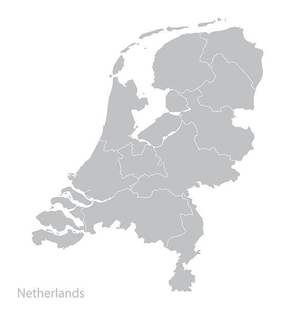 map of netherlands, holland. - holandia stock illustrations