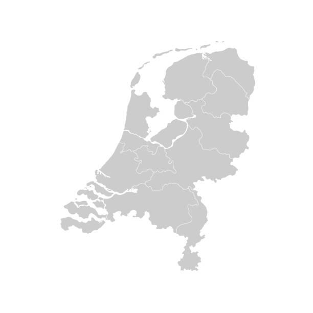karte von niederlande - niederlande stock-grafiken, -clipart, -cartoons und -symbole