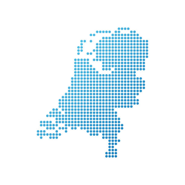 map of netherlands - holandia stock illustrations