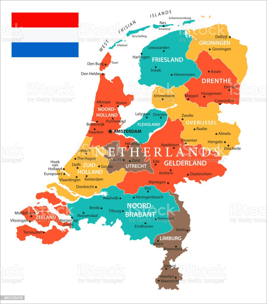 Map Of Netherlands Vector Stock Illustration - Download Image Now ...
