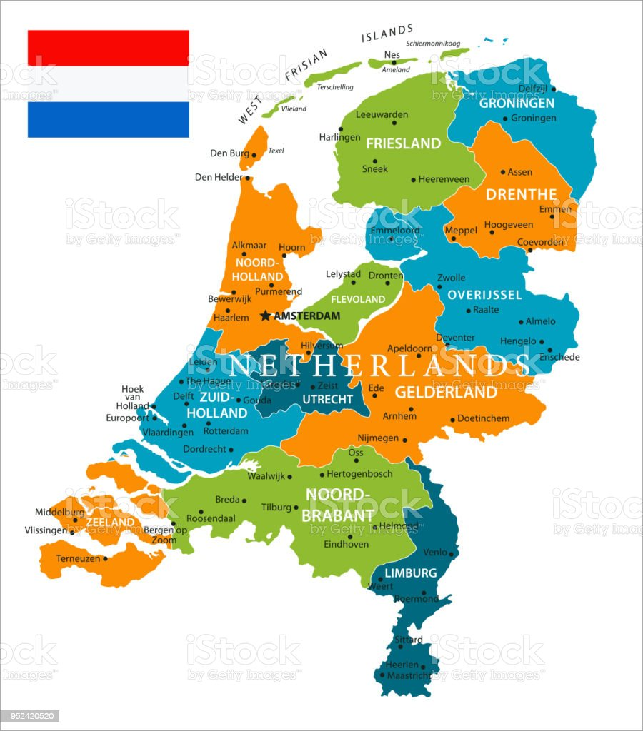Map Of Netherlands Vector Stock Vector Art & More Images of ...