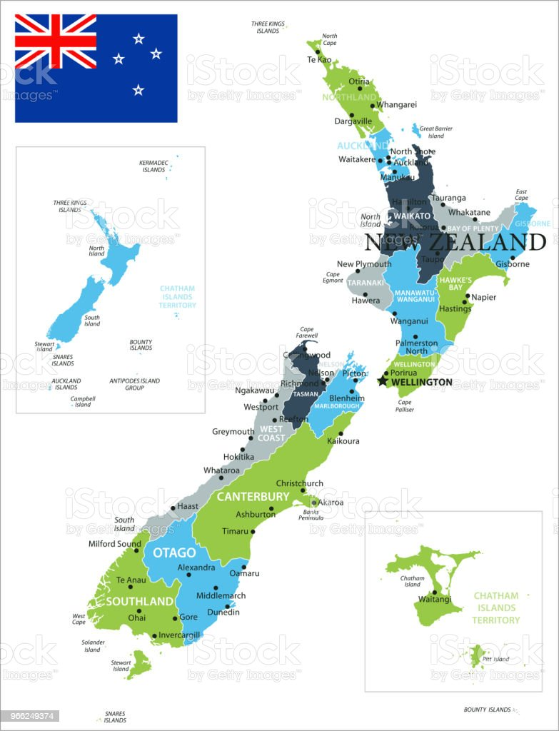 Christchurch World Map.Map Of New Zealand Vector Stock Vector Art More Images Of Black