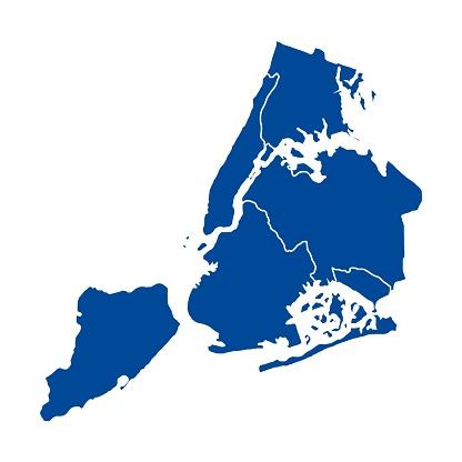 Map of New-York city