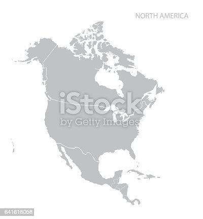 istock Map of North America 641618058