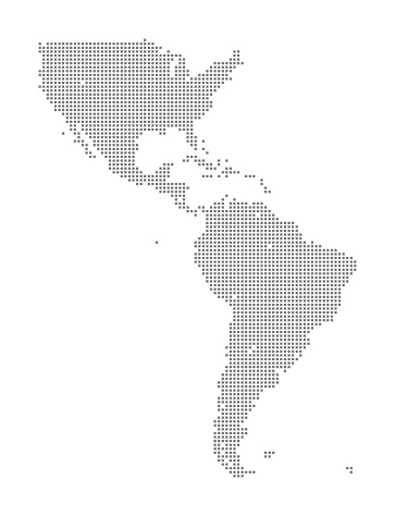 Map of North and South America using Squares