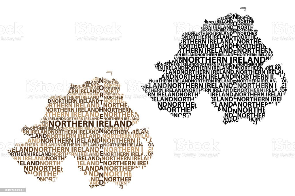 Map Of Ireland Vector.Map Of Northern Ireland Vector Illustration Stock Illustration Download Image Now