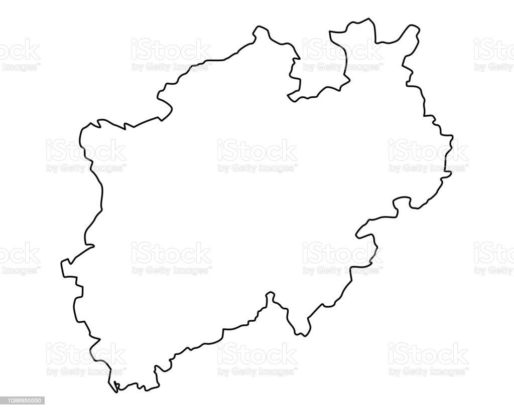 Karte Von Nrw.Karte Von Nrw Stock Vektor Art Und Mehr Bilder Von Deutschland Istock