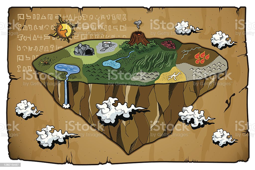 Map of other worlds royalty-free map of other worlds stock vector art & more images of antique