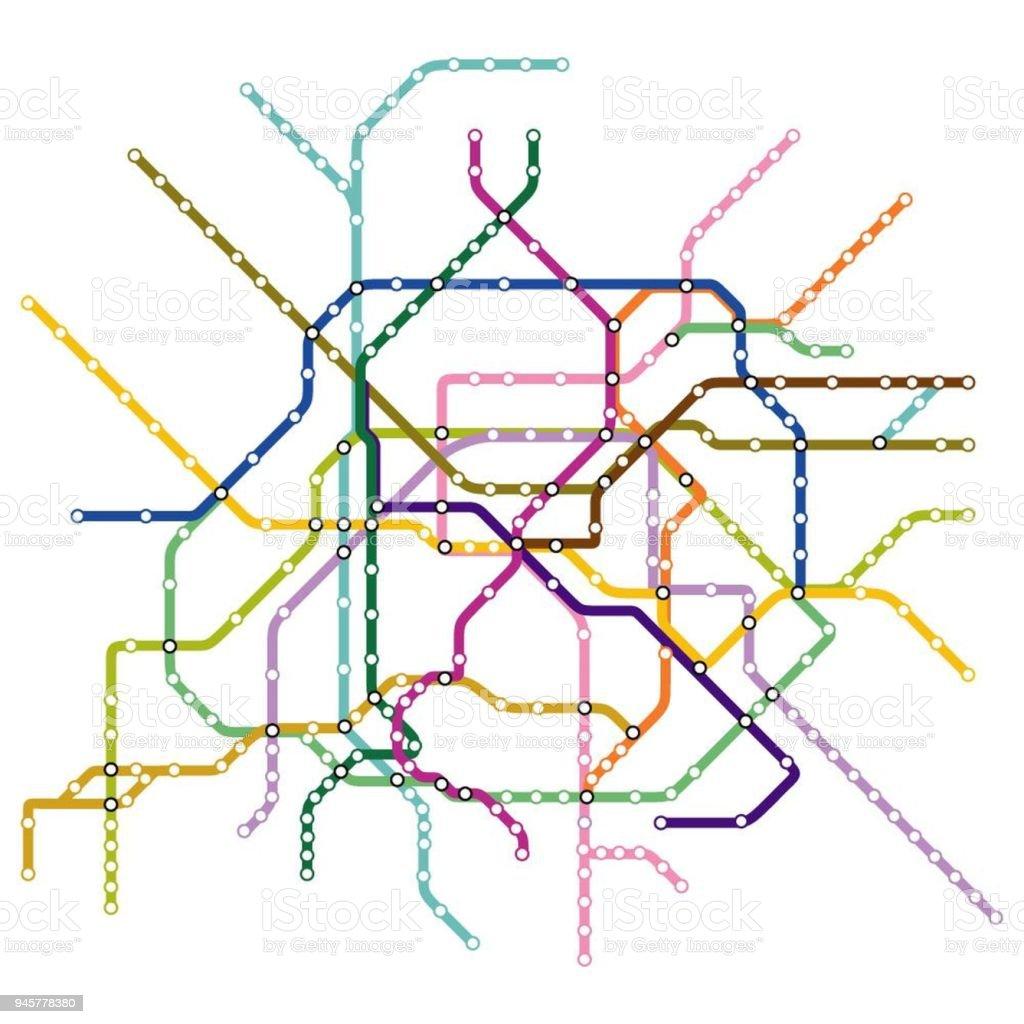 パリの地下鉄の地図 つながりのベクターアート素材や画像を多数ご用意