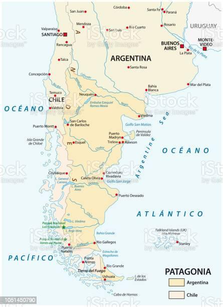 Patagonia Cartina Geografica.Map Of Patagonia The Southern Part Of South America Chile And Argentina Immagini Vettoriali Stock E Altre Immagini Di America Del Sud Istock