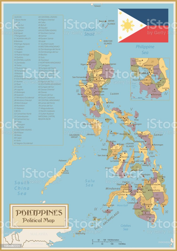 Cagayan Philippines Map.Map Of Philippines Vintage Vector Stock Vector Art More Images Of