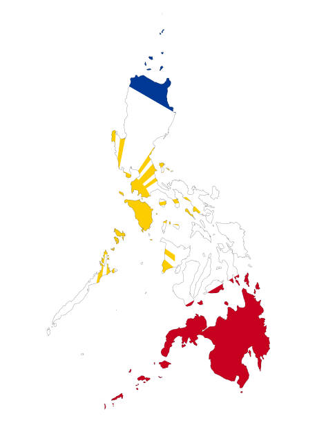 map-of-philippines-with-national-flag-vector-id1212963970