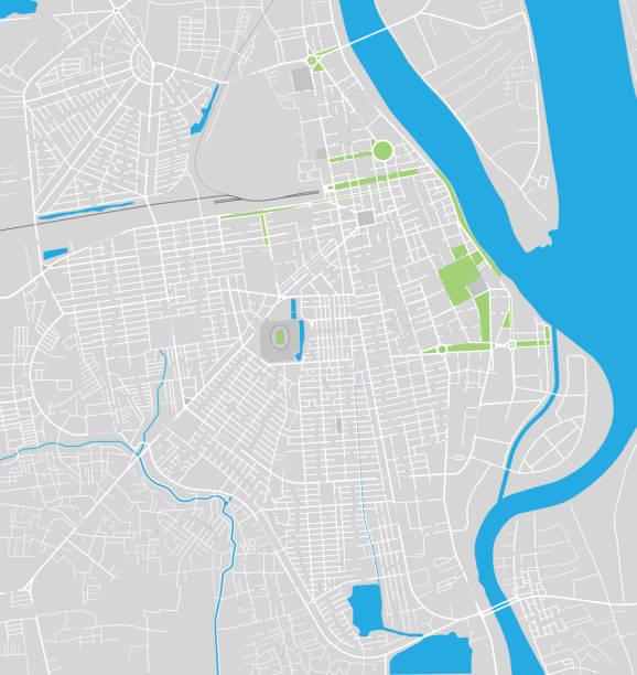 karte von phnom penh city - straßenschilder stock-grafiken, -clipart, -cartoons und -symbole