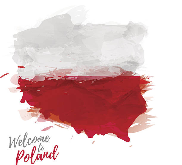 stockillustraties, clipart, cartoons en iconen met map of poland with the decoration of the national flag. - polen