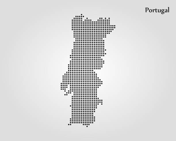 ilustrações de stock, clip art, desenhos animados e ícones de map of portugal - mapa portugal