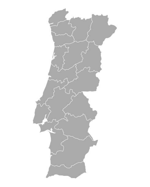 ilustrações de stock, clip art, desenhos animados e ícones de map of portugal - portugal map
