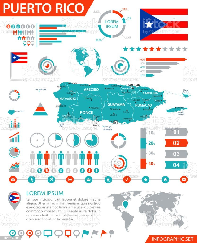 Map Of Puerto Rico Infographic Vector Stock Vector Art & More Images ...