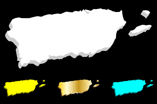 3D map of Puerto Rico