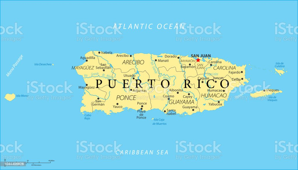 Map Of Puerto Rico Vector Stock Vector Art & More Images of ...