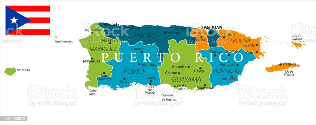 San Juan Puerto Rico On World Map.Map Of Puerto Rico Vector Stock Vector Art More Images Of