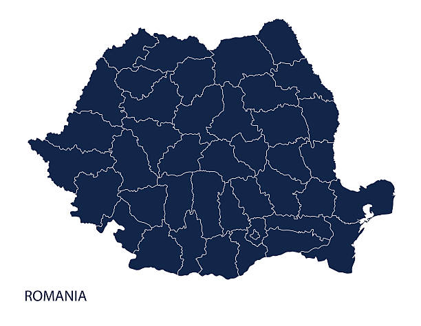 stockillustraties, clipart, cartoons en iconen met map of romania - roemenië