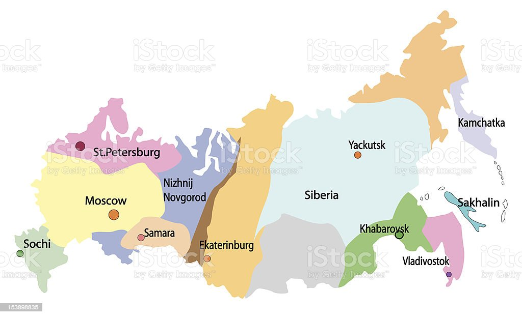 Map Of Russia Stock Illustration Download Image Now Istock