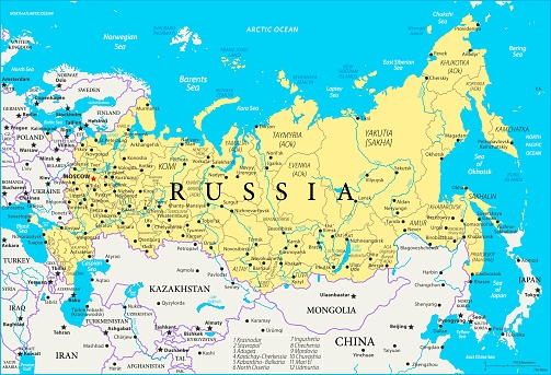 Map of Russia - Vector