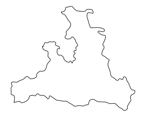 bildbanksillustrationer, clip art samt tecknat material och ikoner med karta över salzburg - salzburg