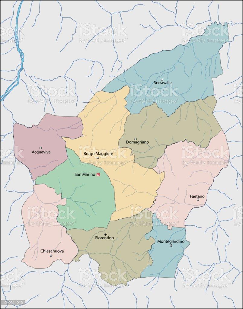 San Marino Mapa Europa.Vetores De Mapa De San Marino E Mais Imagens De Europa