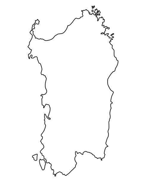 illustrazioni stock, clip art, cartoni animati e icone di tendenza di mappa della sardegna - sardegna