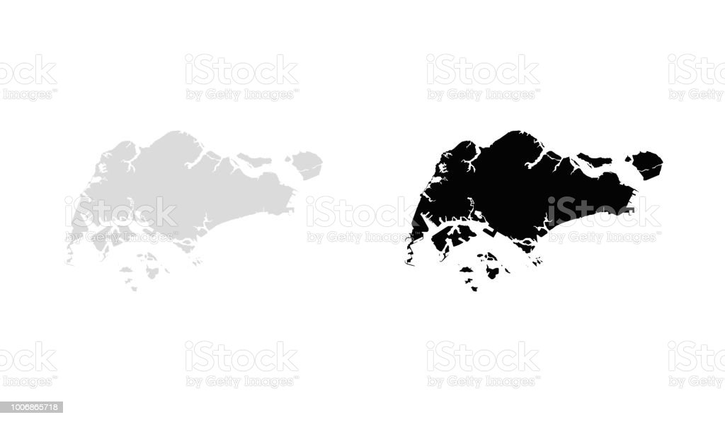 Map Of Singapore Stock Vector Art & More Images of Abstract - iStock