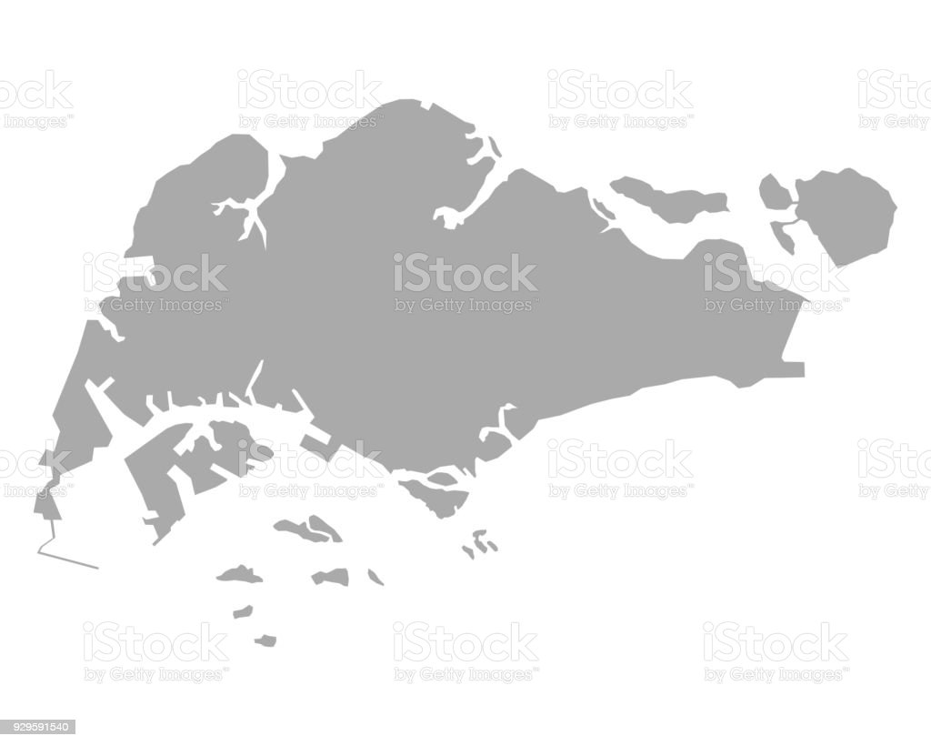 Map Of Singapore Stock Vector Art & More Images of Backgrounds | iStock
