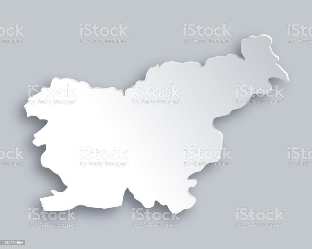 Map of Slovenia vector art illustration