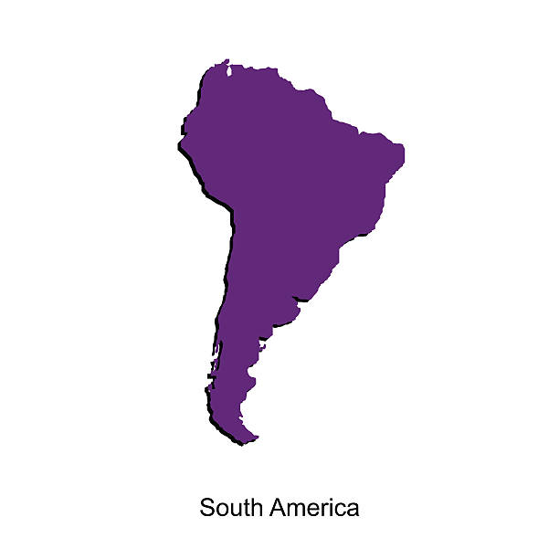 Map of south america  for your design vector art illustration