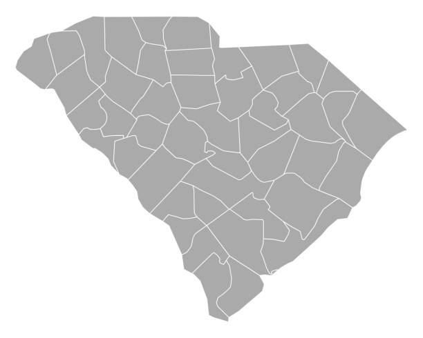 Map of South Carolina Map of South Carolina south carolina stock illustrations