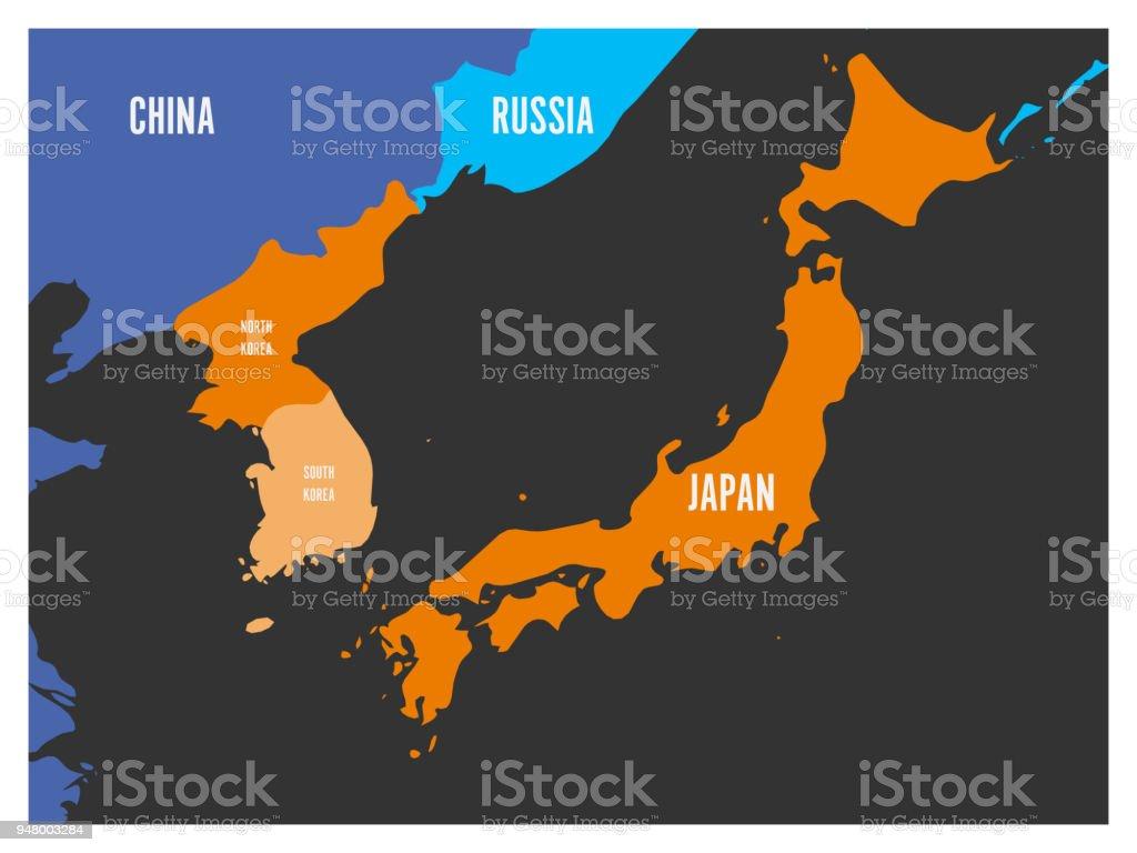 Map of south korea north korea and japan vector illustration stock map of south korea north korea and japan vector illustration royalty free map gumiabroncs Choice Image