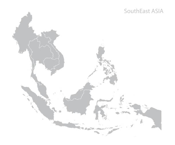 Map of Southeast Asia Map of Southeast Asia. Vector indonesia stock illustrations