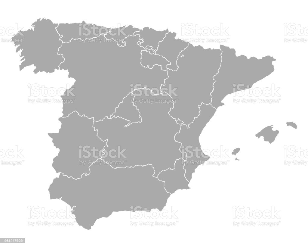 Map Of Spain Stock Vector Art More Images of Andalusia 931217606