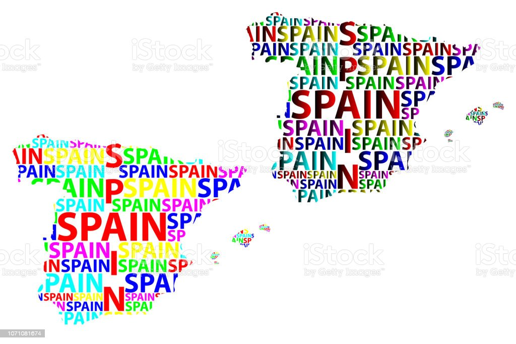 Map Of Spain Vector Free.Map Of Spain Vector Illustration Stock Illustration Download Image