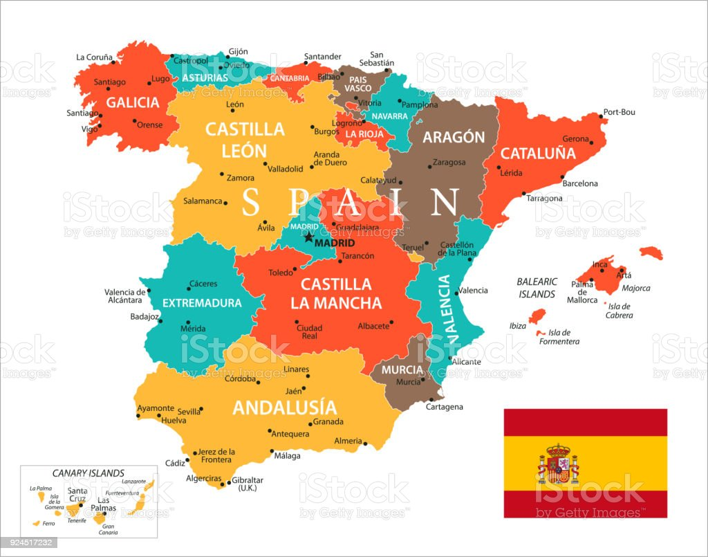 Map of spain vector stock vector art more images of atlantic map of spain vector royalty free map of spain vector stock vector art amp gumiabroncs Images