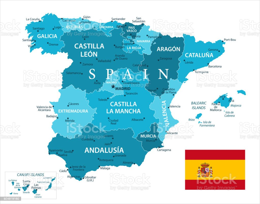 Map of spain vector stock vector art more images of atlantic map of spain vector royalty free map of spain vector stock vector art amp gumiabroncs Gallery