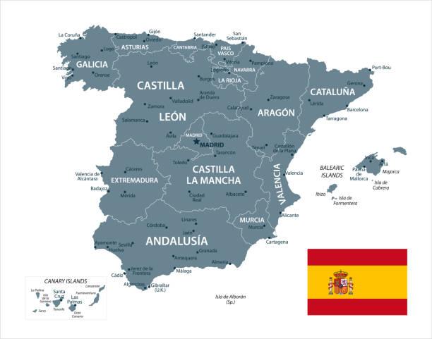 西班牙地圖-向量 - 西班牙 幅插畫檔、美工圖案、卡通及圖標