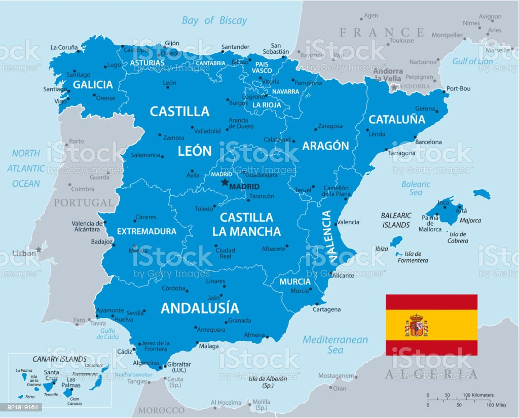 Map Of Spain Zamora.Map Of Spain Vector Stock Vector Art More Images Of Africa Istock