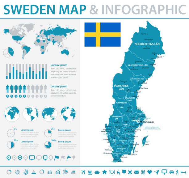 Redigerbar Karta Sverige.Malmoillustrationer Och Vektorbilder Istock