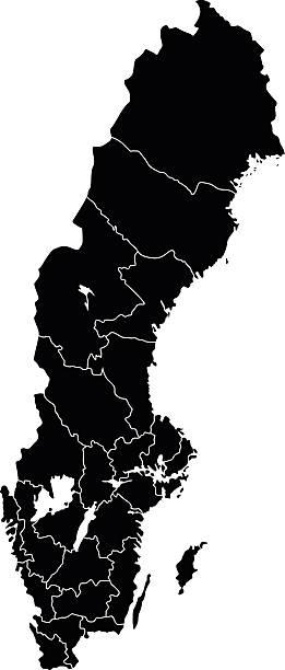 bildbanksillustrationer, clip art samt tecknat material och ikoner med map of sweden - gothenburg