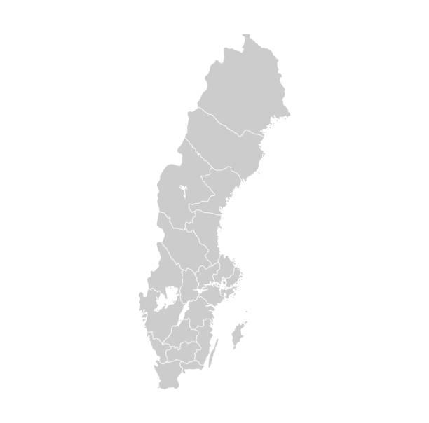 bildbanksillustrationer, clip art samt tecknat material och ikoner med karta över sverige - sweden map