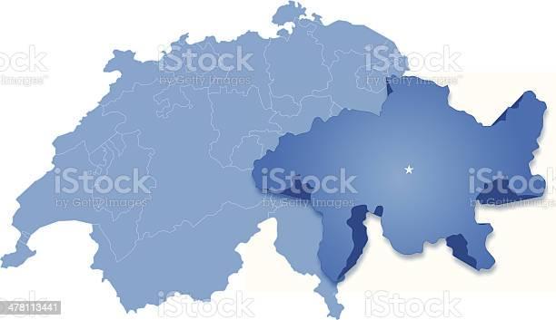 La Cartina Geografica Della Svizzera.Mappa Della Svizzera Dove Grigionigrisons Estratto Immagini Vettoriali Stock E Altre Immagini Di Bianco Istock
